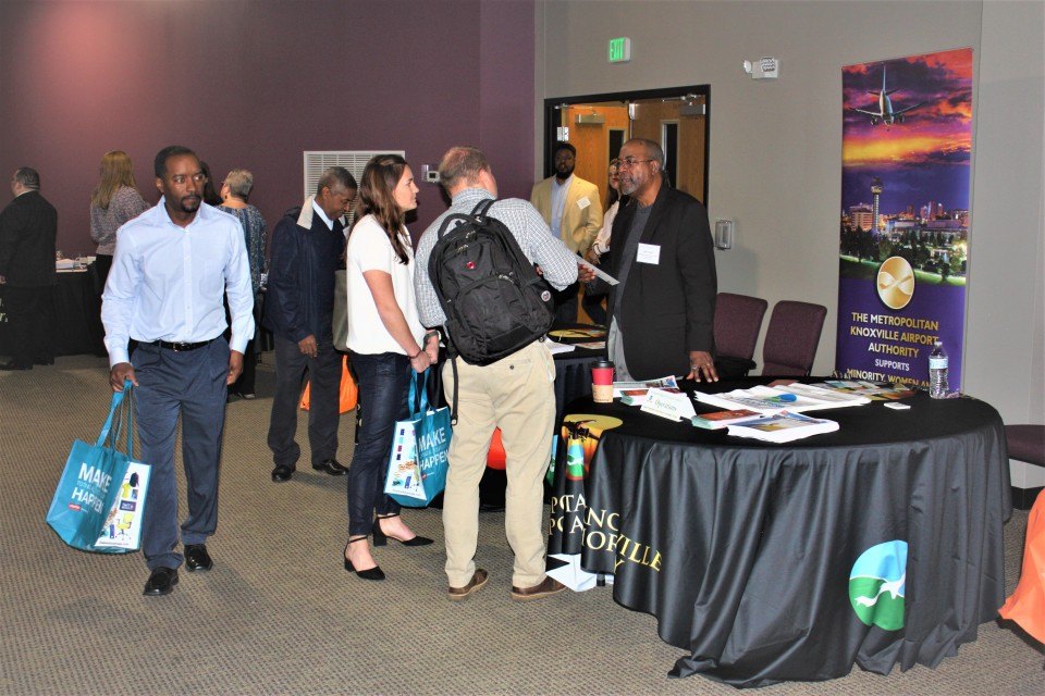 Alan Jones of Metro Knoxville Airport Authority interacts with vendors at the Diversity Business Outreach Event in 2019 Event.